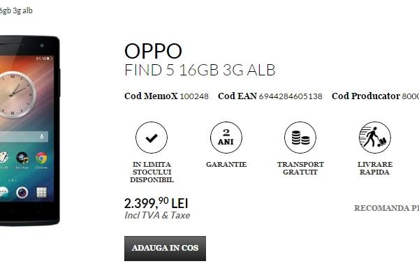 Oppo Find 5 și Oppo Find 7 disponibile prin intermediul QuickMobile.ro