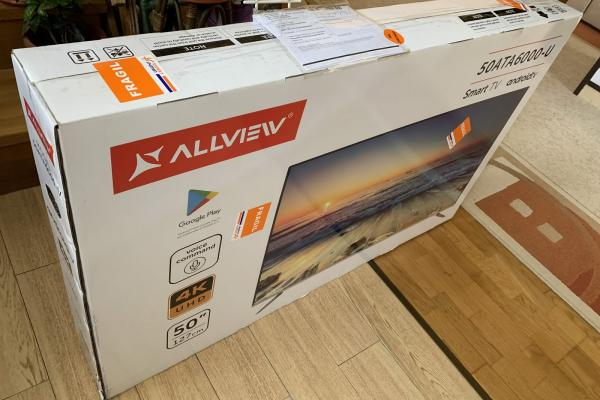 Allview Android TV (50ATA6000-U) Unboxing