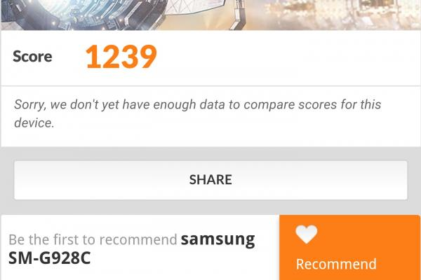 Samsung Galaxy S6 Edge+ - Benchmark-uri