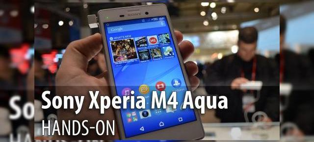 MWC 2015: Sony Xperia M4 Aqua hands-on - telefonul acvatic cu design de Xperia Z3 şi port microUSB expus (Video)