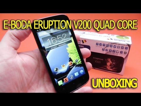 E-Boda Eruption V200 Quad Core unboxing - Mobilissimo.ro