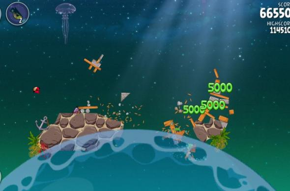 Angry Birds Space Pig Dipper review: 30 de nivele noi, gravitația Întâlnește gameplay-ul acvatic (Video): screenshot_2013_01_11_20_03_09.jpg