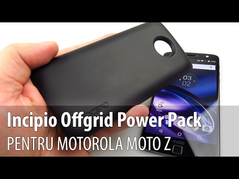 Prezentare video Incipio Offgrid Power Pack pentru Motorola Moto Z (Modul baterie)