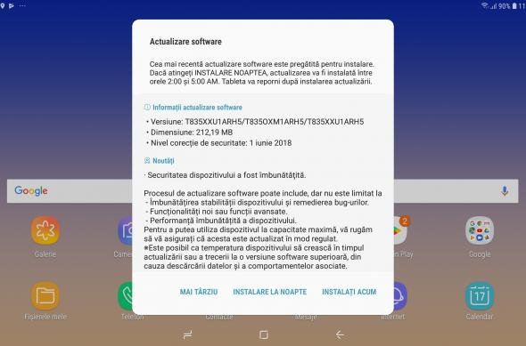 Samsung Galaxy Tab S4 - Screenshots: Screenshot_20180917-112821_Software update.jpg