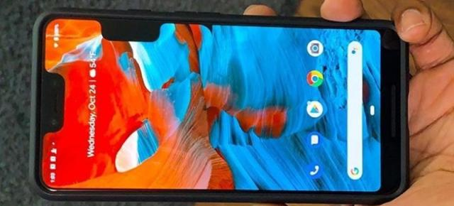 "Google Pixel 3 XL are ""varicelă""; Un extra decupaj software apare lateral din cauza unui bug"