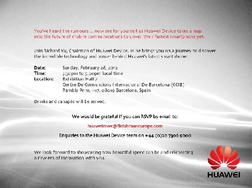 Huawei - Live blogging Mobile World Congress 2012 - imaginea 2