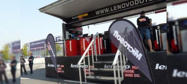 Lenovo Do Tour 2011 - experiența Mobilissimo la caravana Lenovo de la Băneasa Mall: tablete, laptopuri și antren (Video)