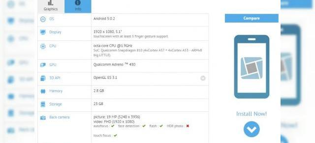 Sony Xperia Z4 are specificațiile scăpate pe web; GFXBench dezvăluie prezența unui display FHD de 5.1 inch