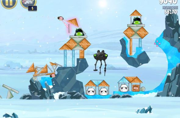 Angry Birds Star Wars Hoth Update review: prințesa Leia, roboți patrupezi și multă distracție! (Video): ipad_mini_screenshot_39.jpg