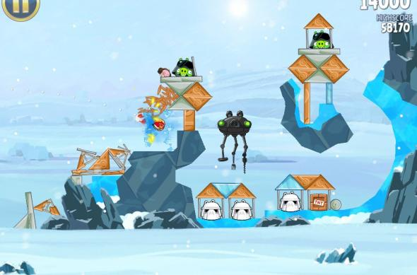Angry Birds Star Wars Hoth Update review: prințesa Leia, roboți patrupezi și multă distracție! (Video): ipad_mini_screenshot_38.jpg