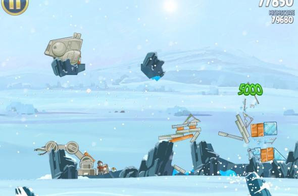 Angry Birds Star Wars Hoth Update review: prințesa Leia, roboți patrupezi și multă distracție! (Video): ipad_mini_screenshot_23.jpg