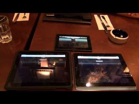 iPad 2 se confrunta cu iPad 1 si BlackBerry PlayBook