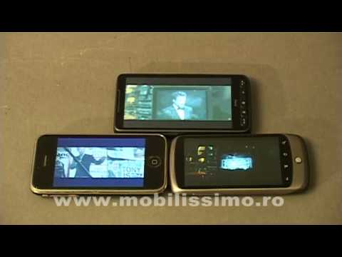 HTC HD2 vs. Google Nexus One vs. iPhone 3G display war